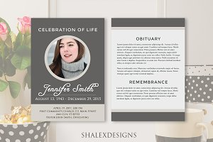 Funeral Program Template Gray