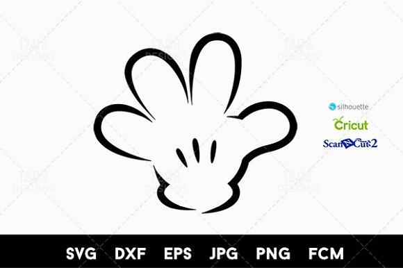 Mickey Hand SVG Cutout