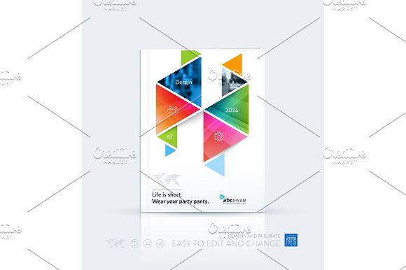 Business Vector Template Brochure Layout Cover Modern Design A