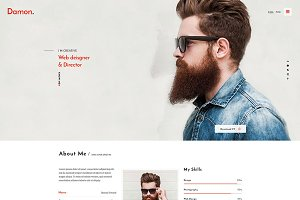 Damon - Resume HTML Template