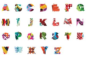 Colourful Type Set | Folkore