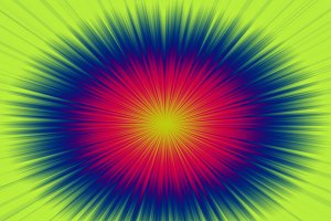 Background of circles formed by abstract lines of various colors.