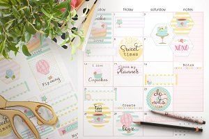 Tea Time printable stickers