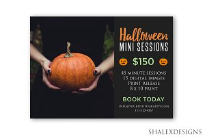 Halloween Booking Ad Template