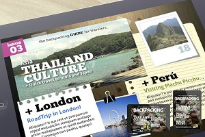 BackPacking iPad Magazine Template