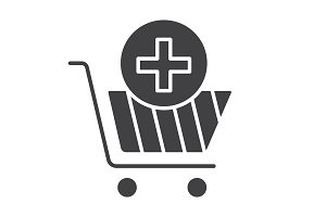Drugstore shopping icon. Vector