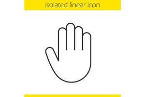 Palm icon. Vector