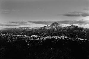 Black and White City of Sedona