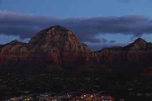 Mountain During Dawn Over Sedona