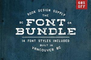 60% OFF Font Bundle - 14 Font Styles