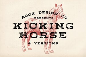 Kicking Horse - 4 Font Family