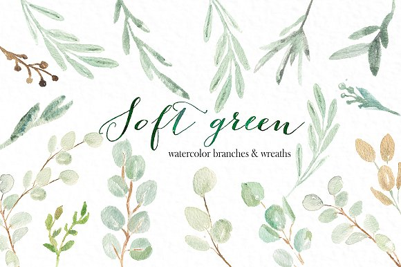 Soft Green Wreaths Branches