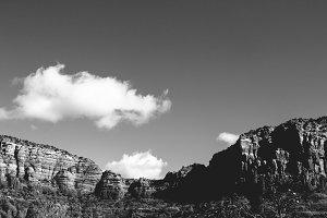 Black and White Sedona Red Rocks