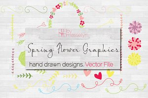 Spring Flowers Graphics - Vector