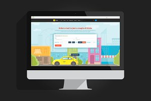 PSD website template fo taxi service