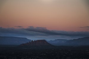 Sunrise Over the Mountains in Sedona