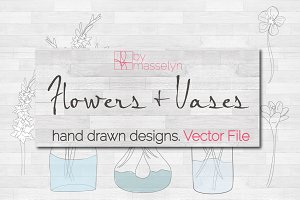 Flowers & Vases - Vector