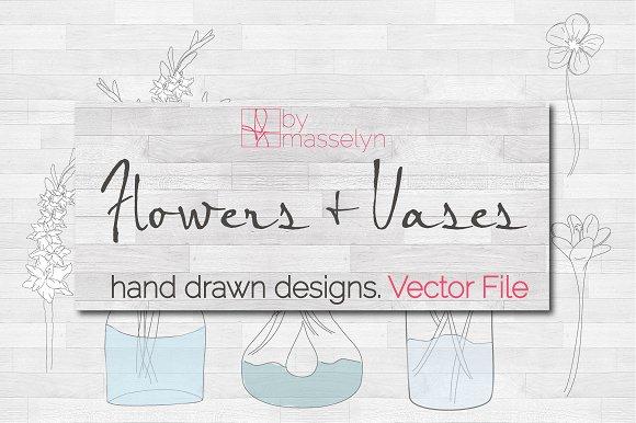 Flowers Vases Vector
