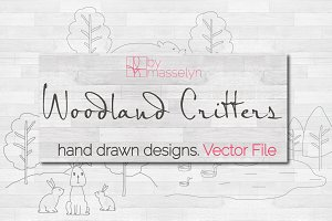 Woodland Critters - Vector