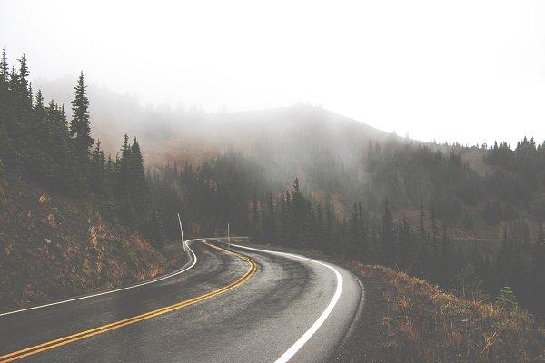 Rainy Mountain Road Fade