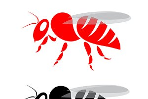 Vector image of a bee.