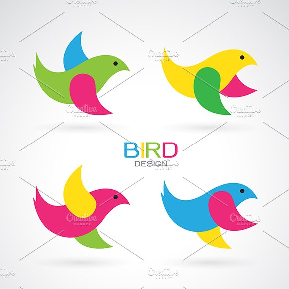Set Of Vector Bird Design Icons