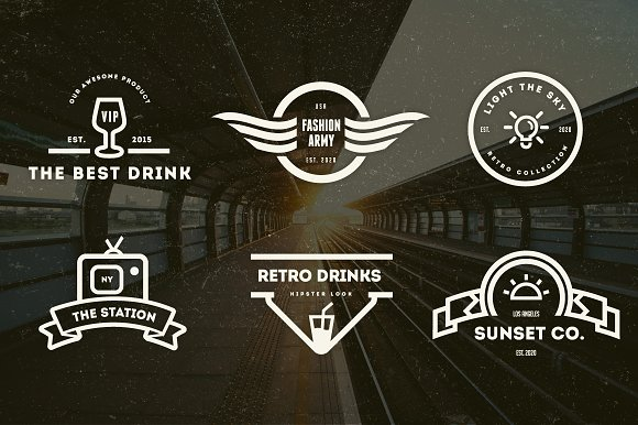 15 Vintage Logos & Badges in Logo Templates - product preview 1