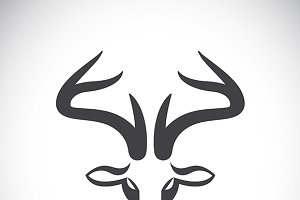 Vector images of deer head.