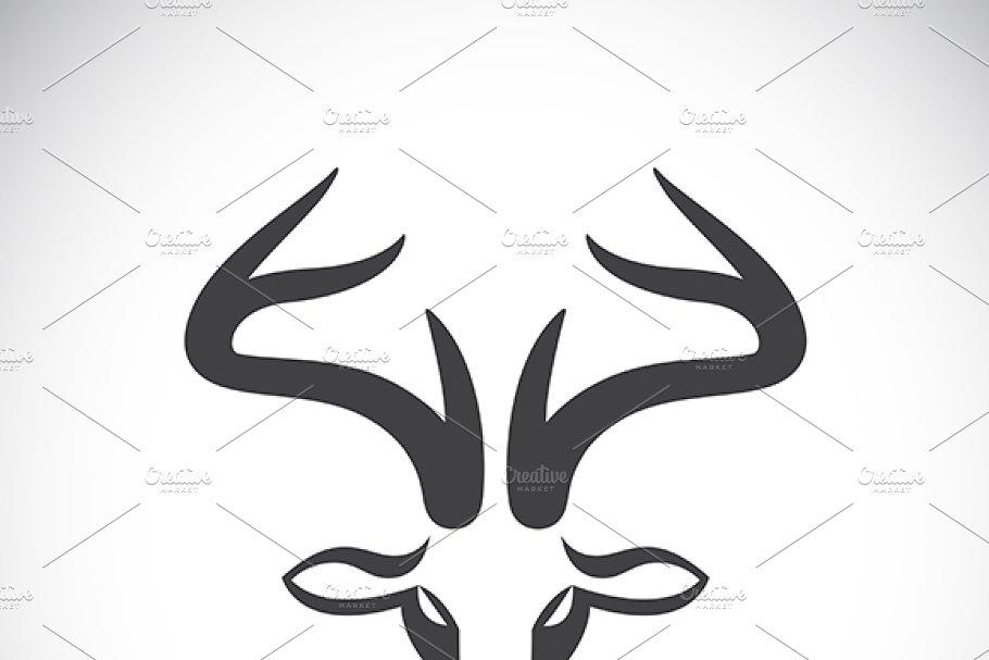Vector images of deer head.