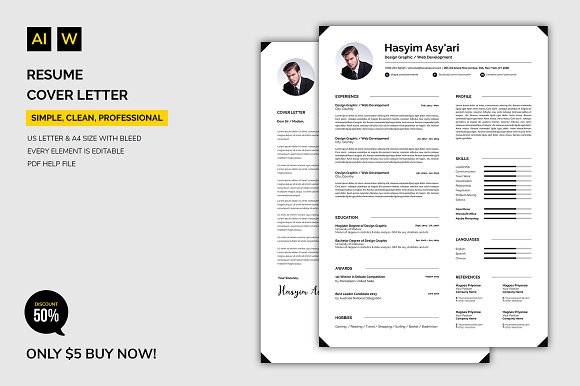 Resume / Cover Letter in Resume Templates