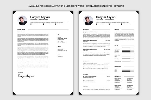 Resume / Cover Letter in Resume Templates - product preview 1
