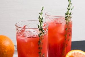Cocktail made of Sicilian orange