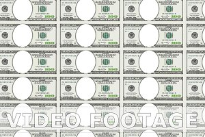 Sheet of 100 dollar bill with no face. Looped.