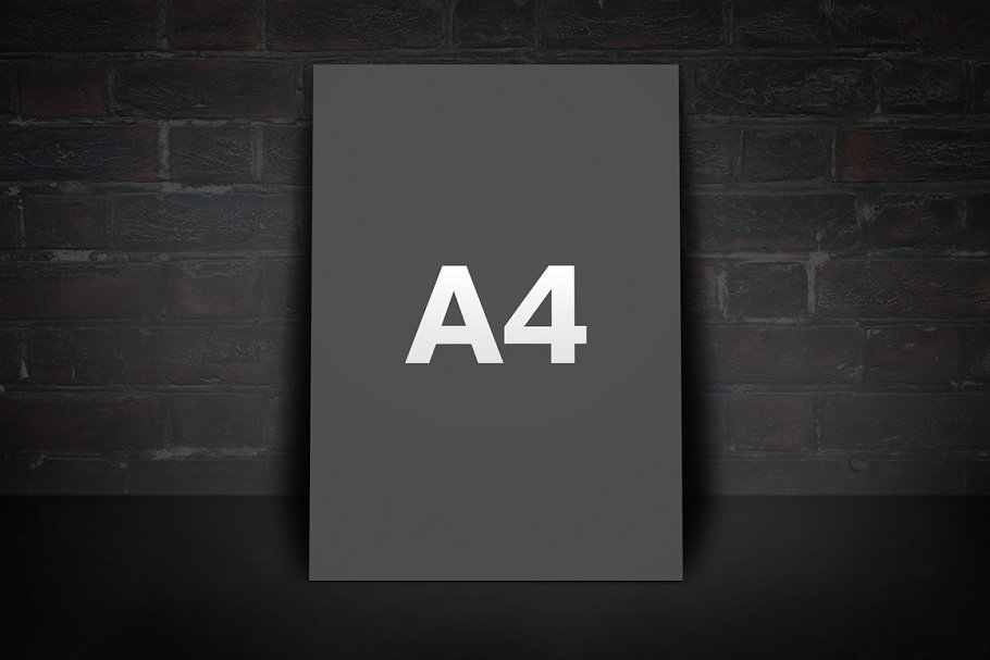 Vertical Flyer Mockup (A4+A5+Letter) in Print Mockups - product preview 8