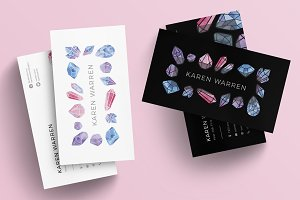 Gemstones Business Card Template