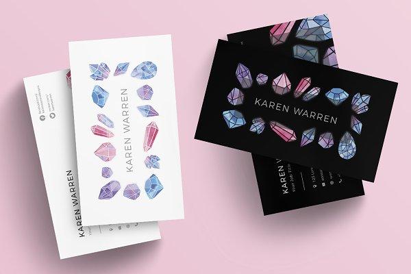 Gemstones Business Card Template