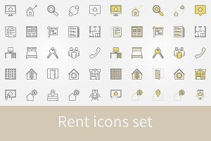Rent icons set