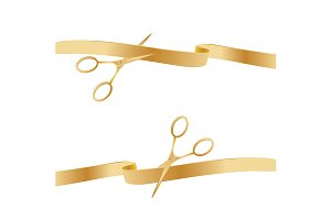 Golden Scissors Cutting