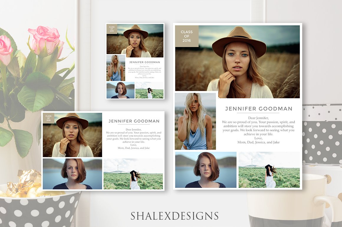 Luxury Senior Yearbook Page Templates Picture Collection - Resume ...