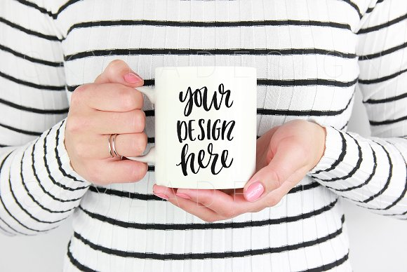 Free White mug mockup stock photo