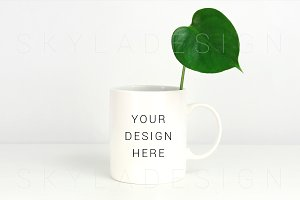 White coffee mug mockup photo