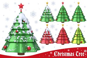 Christmas Tree 3D Set 1