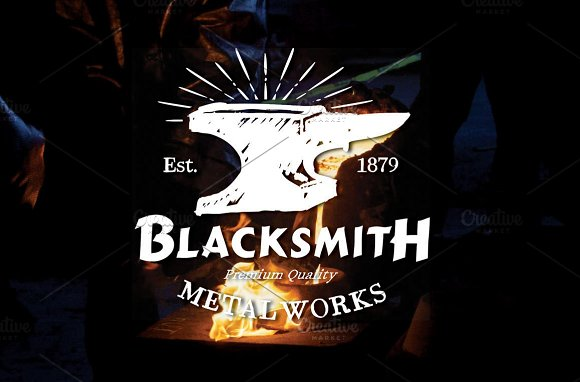 Blacksmith badge (EDITABLE TEXT) in Logo Templates - product preview 2