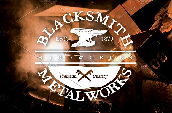 Blacksmith badge (EDITABLE TEXT) in Logo Templates - product preview 3