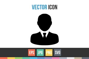 Businessman User Avatar Vector