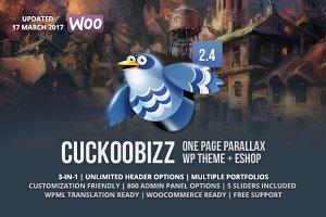 CuckooBizz - One Page Parallax Eshop
