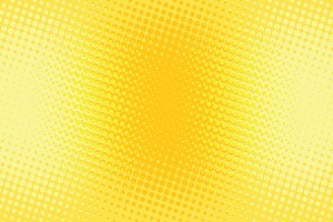 Orange yellow halftone pop art retro background