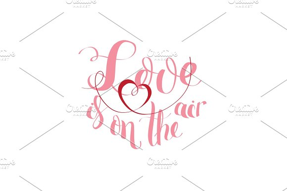 Love In On The Air Typography Brush Lettering