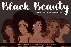 Black Beauty Vector Set. Vol. 1