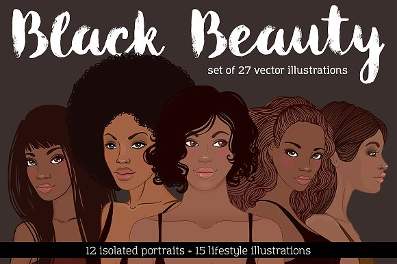 Black Beauty Vector Set